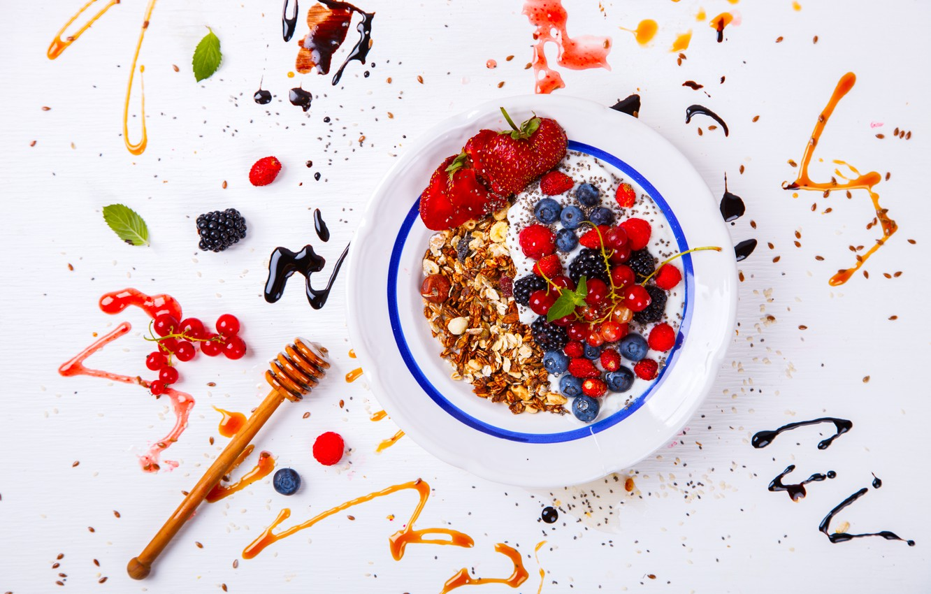 Wallpaper Berries Breakfast Porridge Oatmeal Images For
