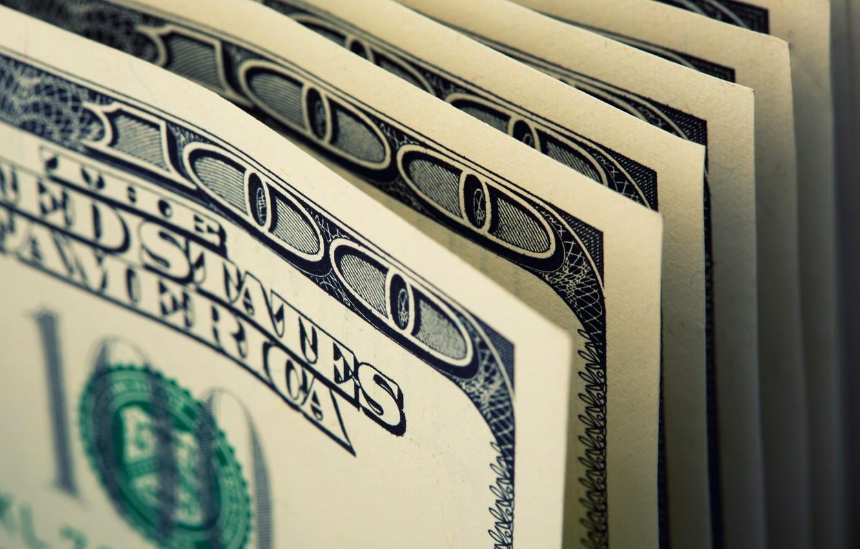 Photo wallpaper blur, dollar, bills, dollar, banknotes, banknotes