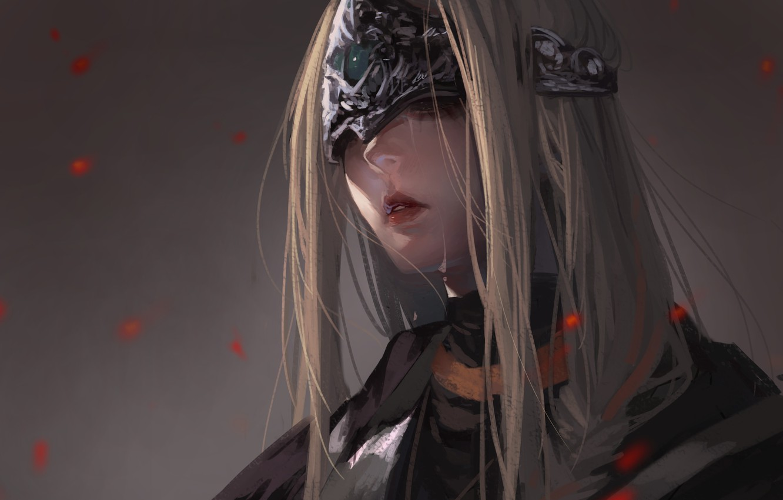Wallpaper Girl Fire Dark Souls Fire Keeper Images For Desktop