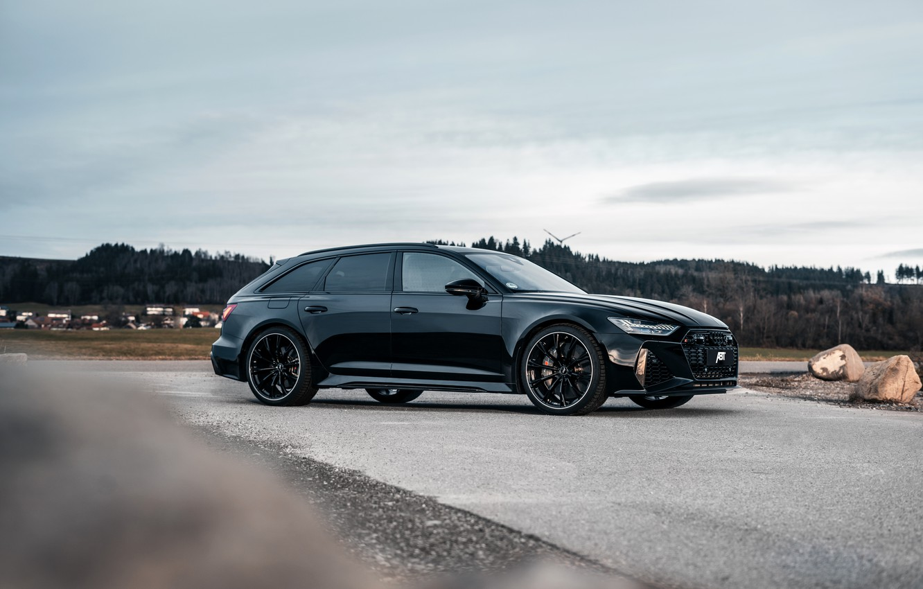 Photo wallpaper Audi, black, side view, ABBOT, universal, RS 6, 2020, 2019, V8 Twin-Turbo, RS6 Avant, 700 …