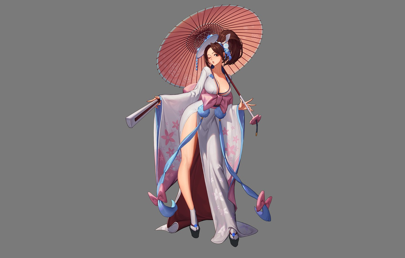 Wallpaper Art Asian Mai Shiranui The King Of Fighters