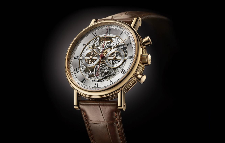 Photo wallpaper time, style, watch, black background, Swiss, wrist, men's, Breguet, Breguet-Montre-Only-Watch