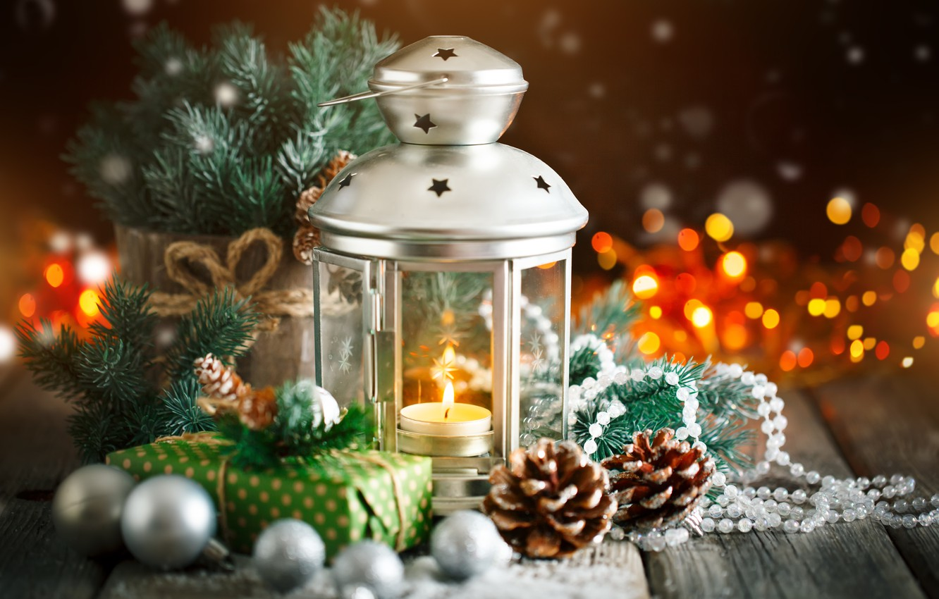 Wallpaper Holiday Gift Toys Lamp New Year Christmas