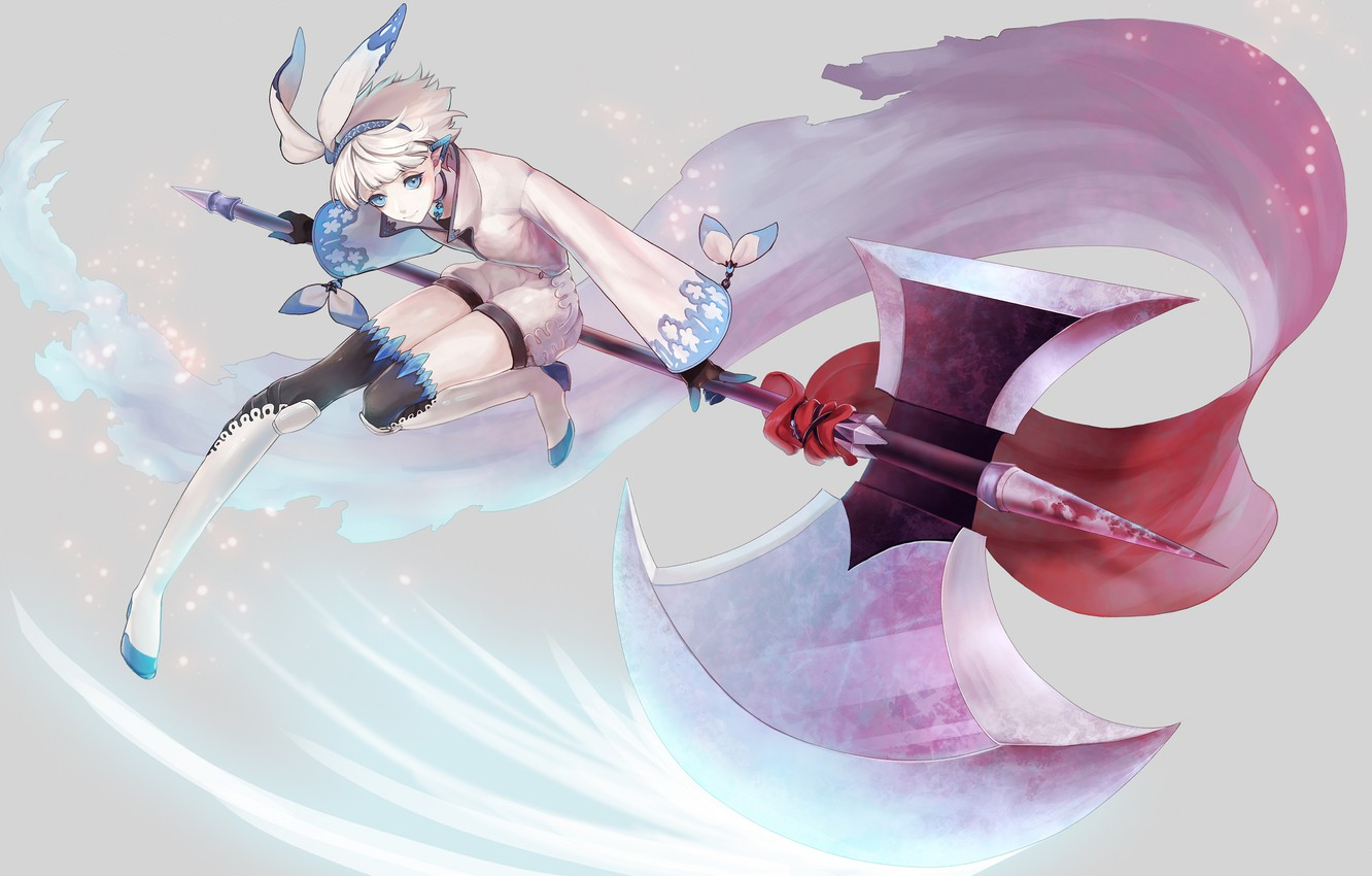 Photo wallpaper girl, weapons, background