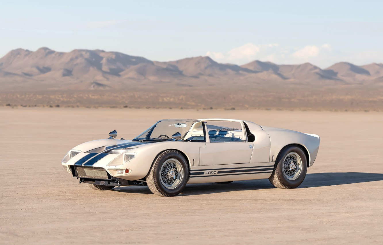 Photo wallpaper Roadster, 1965, Ford GT40, Prototype (GT108)