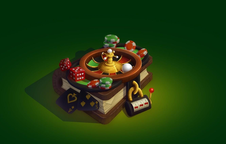 Photo wallpaper ART, GAME, BONES, BOOK, smirnovschool, CARD, Svetlana Belova, ROULETTE, Casino book, CHIPS