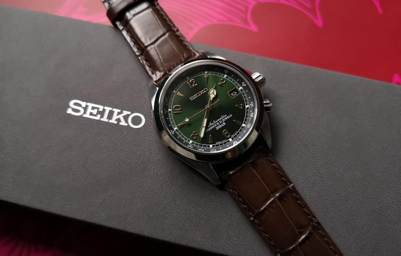 Photo wallpaper macro, style, watch, box, Seiko, Seiko Alpinist
