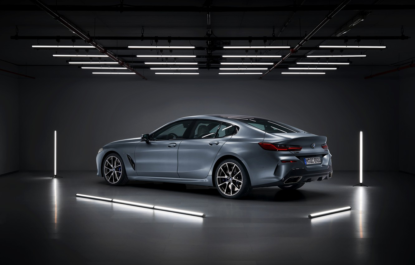 Photo wallpaper reflection, lamp, coupe, BMW, the ceiling, Gran Coupe, 8-Series, 2019, the four-door coupe, Eight, G16