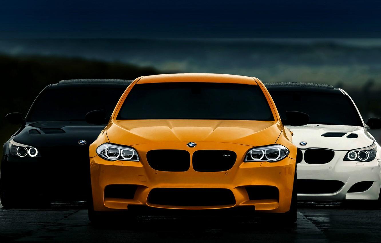 Photo wallpaper BMW, F10, E60, STYLE, BLACK, WHITE, ORANGE, FASHION, WHELLS, GEORGIA, BMW CLUB, LIGHTS