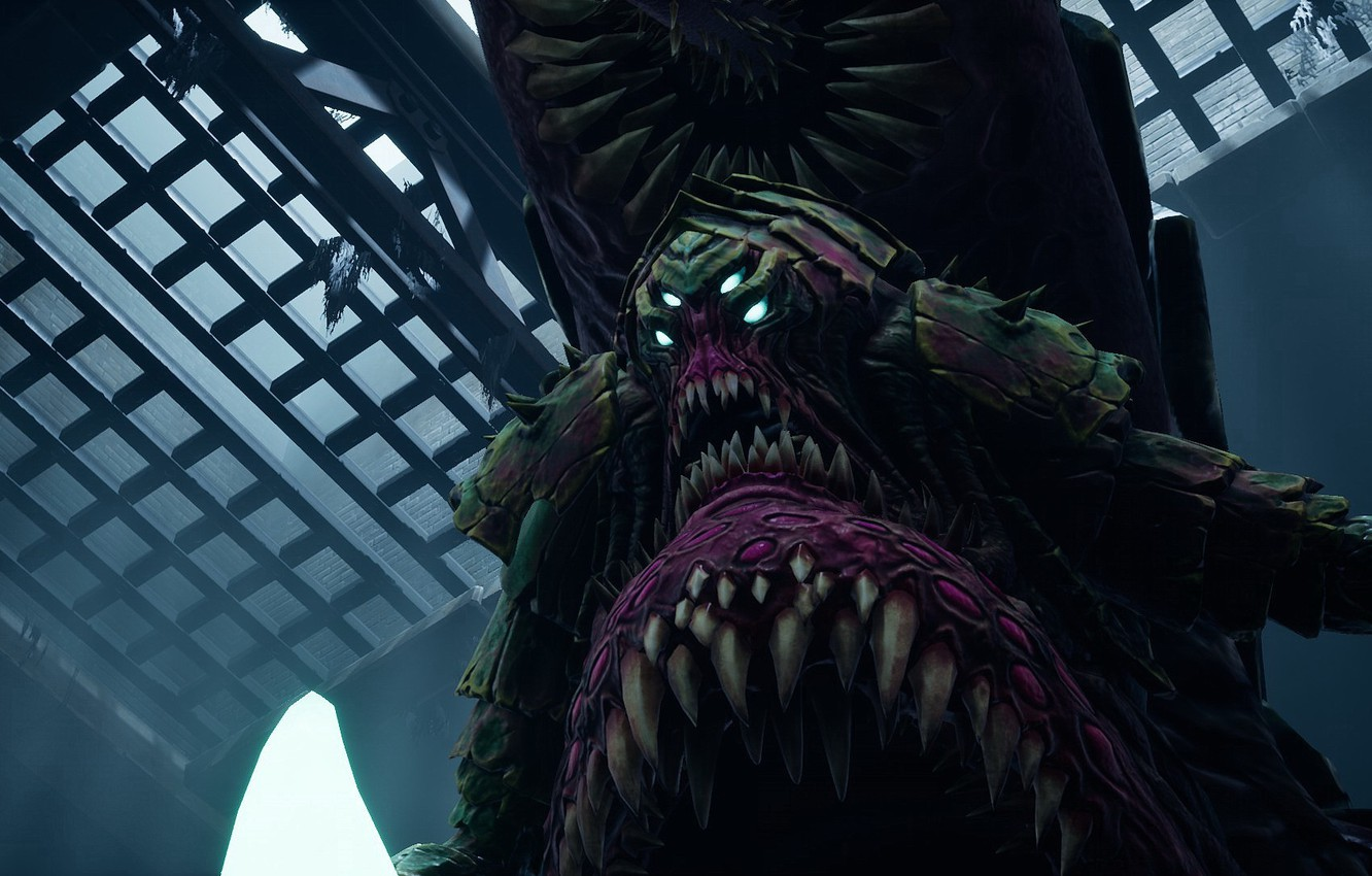 Photo wallpaper monster, mouth, fangs, game, Gluttony, the seven deadly sins, Darksiders III, deadly sin, mortal sin, …