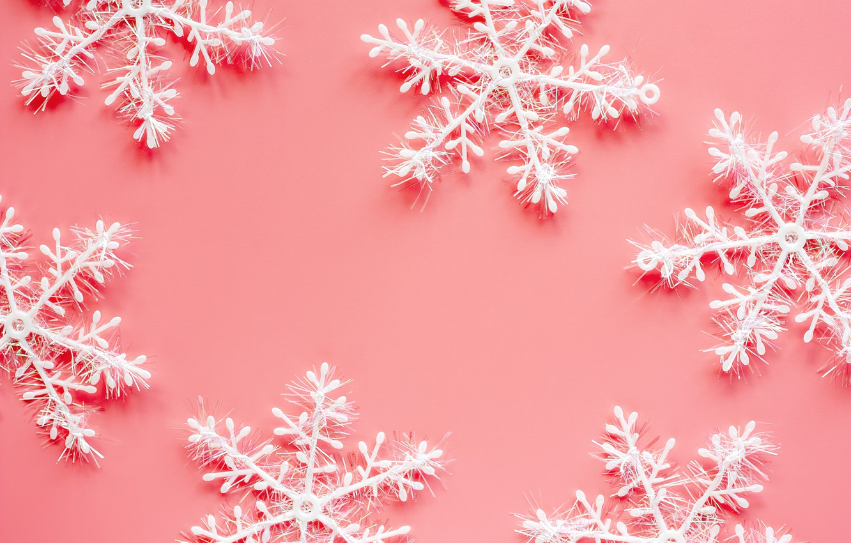 Wallpaper winter, snowflakes ...
