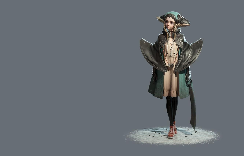 Photo wallpaper rendering, fantasy, art, Mido Lai, Emily the Assassin