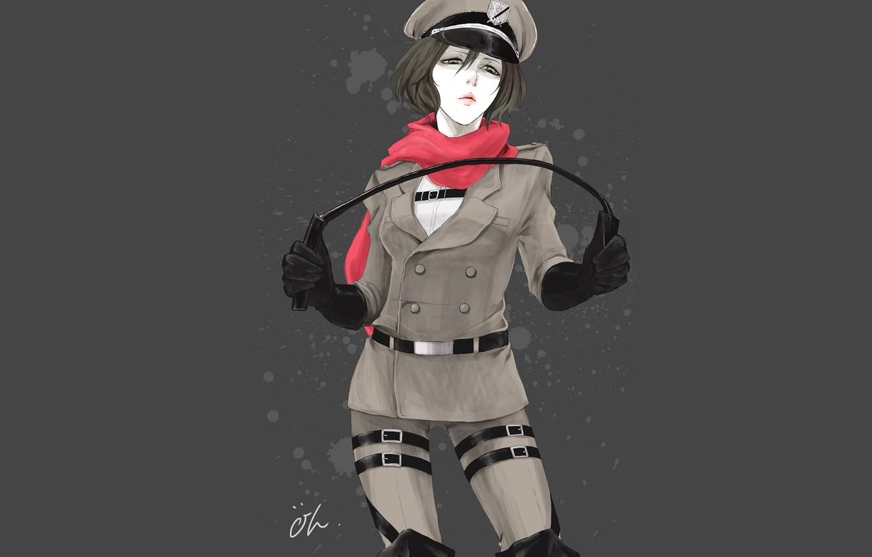 Photo wallpaper girl, form, Attack Of The Titans, Shingeki No Kyojin, Mikasa Ackerman