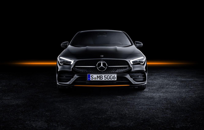 Photo wallpaper coupe, Mercedes - Benz, Mercedes-Benz CLA, AMG Line, 2019, Mercedes - Benz, Edition Orange Art