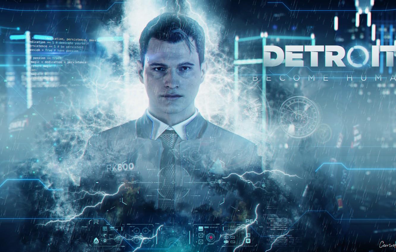 Wallpaper Detroit Connor Detroit Detroit Become Human Android