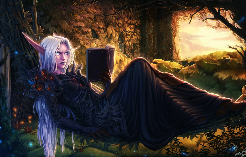 Wallpaper Wow Fantasy Art Warcraft Elf Book Game Art World
