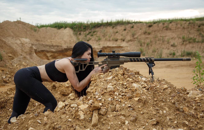 Wallpaper Girl, Sniper rifle Lobaeva