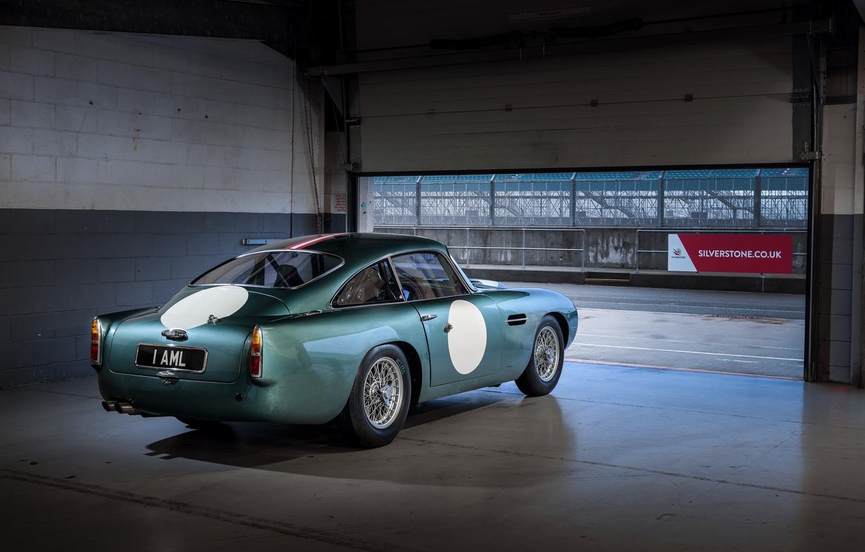 Photo wallpaper Aston Martin, Gate, Garage, Classic, 2018, Classic car, 1958, DB4, Sports car, Aston Martin DB4 …