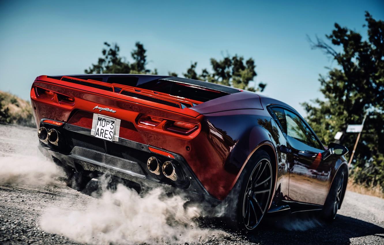 Photo wallpaper coupe, dust, back, V10, De Tomaso Pantera, Hurricane, Lamborghini Huracan, 2020, two-door, Project1, Panther ProgettoUno, …