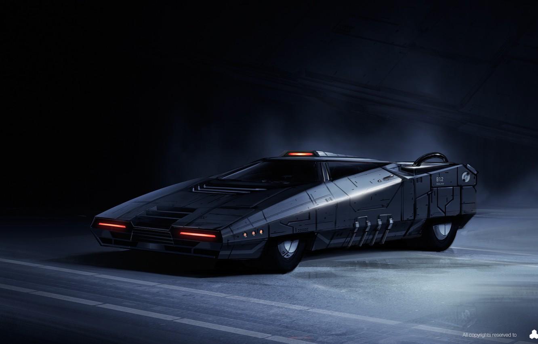 Photo wallpaper Future, Machine, Art, Fiction, Concept Art, Science Fiction, Cyberpunk, The Hunt, Transport & Vehicles, by …