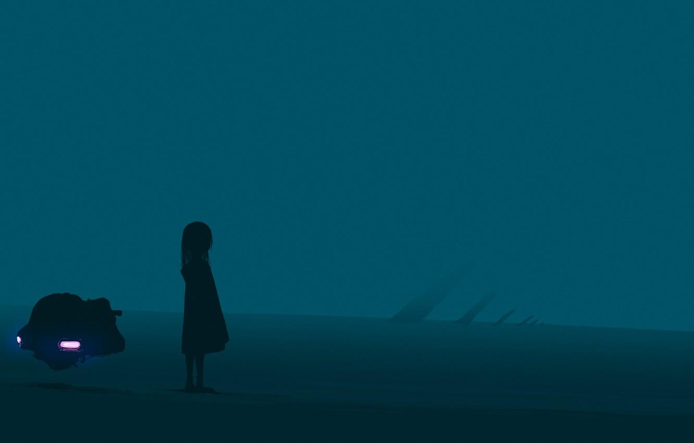 Photo wallpaper fiction, technique, girl, twilight