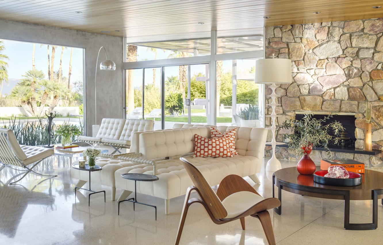 Photo Wallpaper Design Living Room Interior Ca Palm Springs
