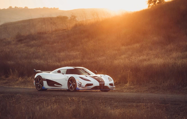 Photo wallpaper sunset, Koenigsegg, supercar, 2018, Agera, hypercar, RS1