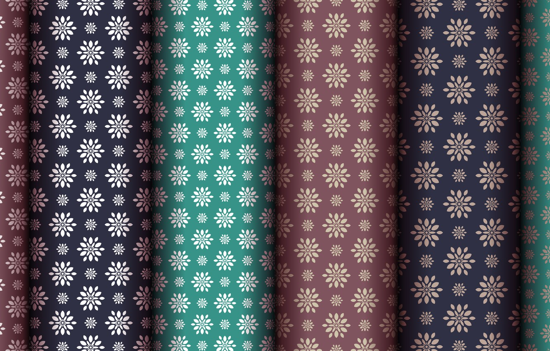 Photo wallpaper flowers, green, background, pattern, brown