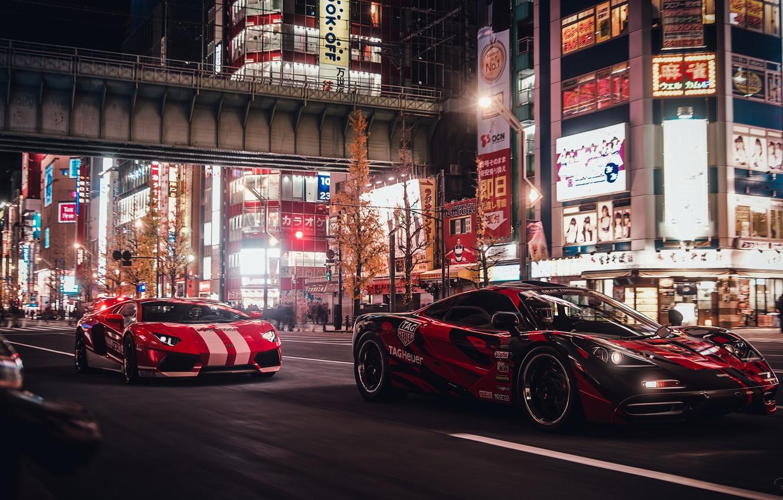 Photo wallpaper race, Lamborghini, Tokyo, Tokyo, Aventador, McLaren F1, Gran Turismo