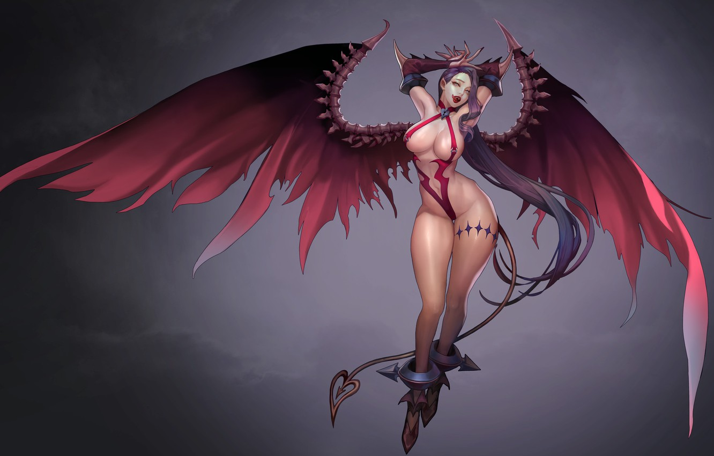 Photo wallpaper anime, art, demoness, Royal blood, Bio Bio