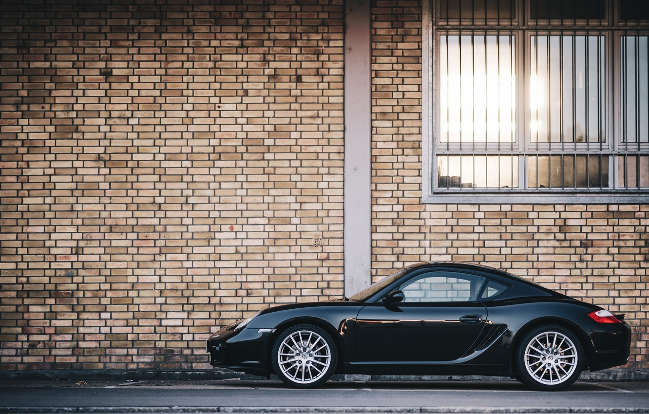 Photo wallpaper sports car, Porsche Cayman, Porsche 987, Porsche Cayman 987