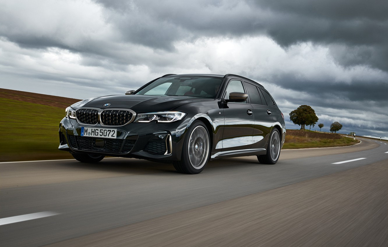 Photo wallpaper clouds, black, BMW, 3-series, universal, 3P, 2020, 2019, G21, M340i xDrive Touring