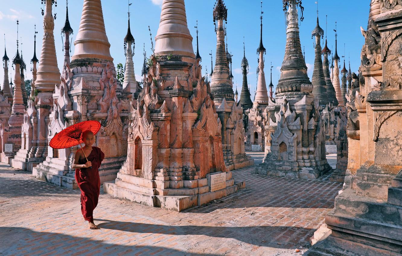 Photo wallpaper Myanmar, Kakku pagodas, Shan State
