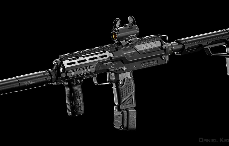 Photo wallpaper weapons, gun, weapon, mp7, smg, пистолет - пулемет, мп7
