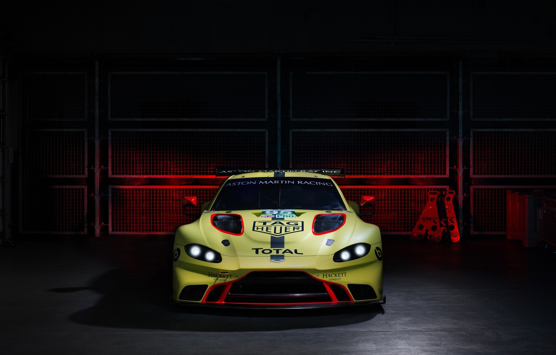 Photo wallpaper Aston Martin, Vantage, racing car, front view, 2018, GTE