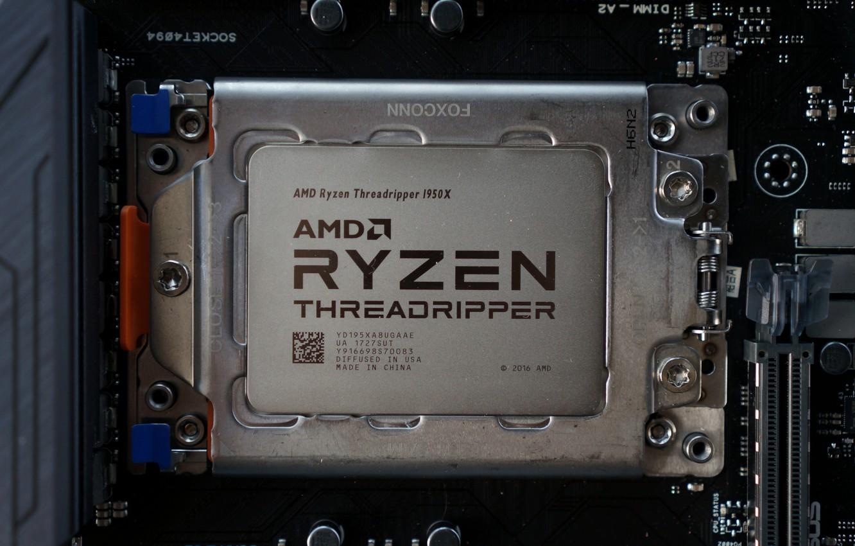 Photo wallpaper AMD, processor, TR4, Ryzen, 1950X, Threadripper