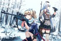 Picture winter, weapons, Girls Frontline, Girls front