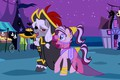 Picture cartoon, costume, background, pony, My Little Pony, two
