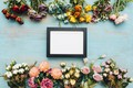 Picture bright, colorful, background, wood, frame, flowers, flowers