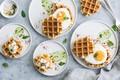 Picture eggs, Breakfast, waffles