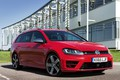Picture red, the building, Volkswagen, universal, 2015, Golf R Estate