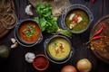Picture soup, pepper, parsley, soup, cuts