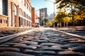 Picture city, USA, road, trees, bridge, New York, NYC, park, New York City, morning, street, people, ...