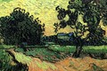 Picture Vincent van Gogh, at Sunset, the Chateau of Auvers, Landscape with