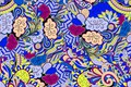 Picture blue, yellow, background, pattern, vector, texture, texture, pattern, Paisley