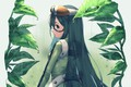 Picture leaves, girl, frog, Boku no Hero Academy, My hero Academy, Frappe