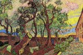 Picture trees, people, shop, Vincent van Gogh, Hospital 4, The Garden of Saint-Paul