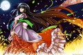 Picture grass, night, the wind, magic, long hair, art, Capura Lin, Touhou Project, the fluffy skirt, ...