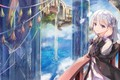 Picture Girl, The city, Waterfall, Fantasy